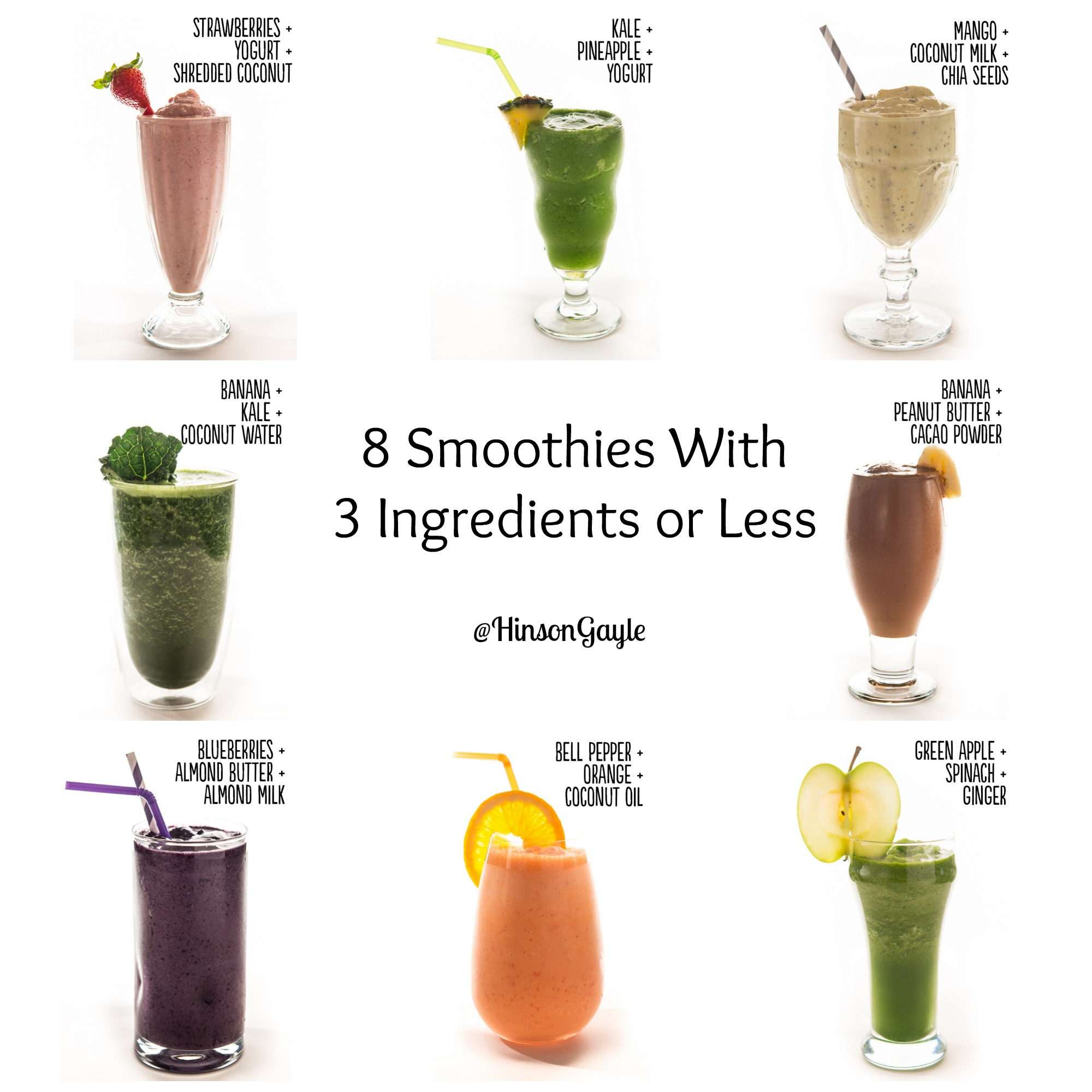 smoothie images via Sarah Flotard and Malina Lopez